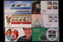 2000-2007 FIRST DAY COVERS.  All Different Collection Of Illustrated Unaddressed First Day Covers Bearing Complete Sets  - Gibraltar