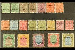 """1929-37  Stamps Of India (KGV) Nasik Large """"Kuwait"""" Overprinted Complete Set, SG 16/29, 15r With A Couple Of Lightly Ton - Kuwait"""
