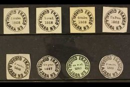 GUADALAJARA  1867-1868 Group Of Local Stamps, Mint Or Unused, Fresh. (8 Stamps) For More Images, Please Visit Http://www - Mexico