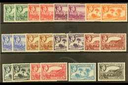 1938-48  Pictorial Definitive Set With ALL Listed Perforation Variants, SG 101/12, Never Hinged Mint (22 Stamps) For Mor - Montserrat