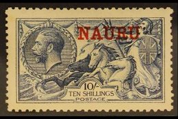 1916 - 23  10s Pale Blue Seahorse, DLR Printing, Ovptd In Red, SG 23, Very Fine Well Centered Mint. For More Images, Ple - Nauru