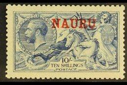 1916- 23  10s Pale Blue, DLR Seahorse, SG 23, Superb Mint. For More Images, Please Visit Http://www.sandafayre.com/itemd - Nauru