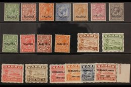 1916-1935 VERY FINE MINT  All Different Selection. With 1916-23 (overprint At Foot) Range To 9d Including 1½d; 1923 (ove - Nauru