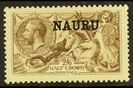 "1916-23  2s6d Chocolate Brown ""Seahorse"" Bradbury Printing, SG 2, Very Fine Mint. For More Images, Please Visit Http://w - Nauru"
