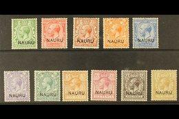 1916-23  Overprints On King George V Stamps Of Great Britain Complete Basic Set (one Of Each Value), SG 1/12, Very Fine  - Nauru