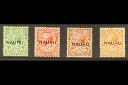 "1923  ""Long Overprints"" (13½mm) Complete Set, SG 13/16, Fine Mint. (4 Stamps) For More Images, Please Visit Http://www.s - Nauru"
