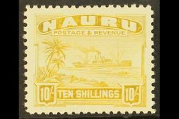 1937-48  10s Yellow Freighter, SG 39B, Fine Mint. For More Images, Please Visit Http://www.sandafayre.com/itemdetails.as - Nauru