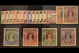 1947  KGVI Definitives Complete Set, SG 1/19, Never Hinged Mint. Fresh And Attractive! (19 Stamps) For More Images, Plea - Pakistan