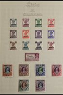 1947-1953 COMPREHENSIVE VERY FINE MINT COLLECTION  On Leaves, All Different, Includes 1947 Opts Set Incl 1r Wmk Inverted - Pakistan