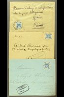 """1918  CENSORED COVERS  Each Bearing 1p Ultramarine, SG 3, Tied By """"SZ 44"""" APO Of Jerusalem Cds Postmark, Two Addressed T - Palestine"""