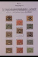 TELEGRAPH STAMPS.  An Interesting Specialists Display On A Single Page Includes The 1892 40c, 1P (2), 2P (2), 10P & 20P  - Panama