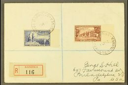 1952  (19th June) Neat Registered Cover To USA, Bearing Australia Foundation Of The Commonwealth 5½d And 1s6d Tied By Cr - Papouasie-Nouvelle-Guinée