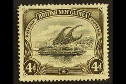 1901-05  4d Black & Sepia Lakatoi Wmk Horizontal, SG 5, Fine Mint, Fresh. For More Images, Please Visit Http://www.sanda - Papouasie-Nouvelle-Guinée