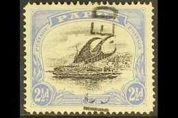 1907-10  2½d Black And Pale Ultramarine Lakatoi, SG 56a, Neat Straight Line Registered Cancel. For More Images, Please V - Papouasie-Nouvelle-Guinée