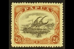 1910  2s 6d Black And Brown, Large Papua, Wmk Upright, P 12½, Type C, SG 83, Very Fine Well Centered Mint. For More Imag - Papouasie-Nouvelle-Guinée