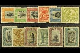 1932  Pictorial Set To 2s, SG 130/141, Mainly Fine Mint. (12) For More Images, Please Visit Http://www.sandafayre.com/it - Papouasie-Nouvelle-Guinée