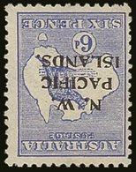 1915-16 N.W.P.I.  6d Ultramarine Roo, Watermark Inverted SG 78w, Fresh Mint, One Shorter Perf. For More Images, Please V - Papouasie-Nouvelle-Guinée