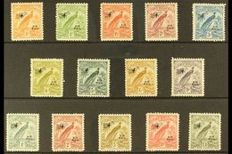 1931  Raggiana Bird Air Overprinted Set, SG 163/76, Fine Mint (14 Stamps) For More Images, Please Visit Http://www.sanda - Papouasie-Nouvelle-Guinée