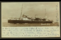 1935  (30 Dec) Photo Postcard Of Ship R.Y.S. Rosaura Addressed To Australia, Bearing 1932-34 1½d Stamp (SG 178) Tied By  - Papouasie-Nouvelle-Guinée