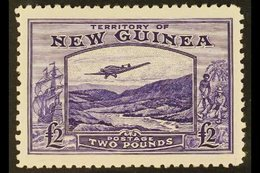 1935  £2 Bright Violet Air Bulolo Goldfields, SG 204, Never Hinged Mint. Scarce. For More Images, Please Visit Http://ww - Papouasie-Nouvelle-Guinée