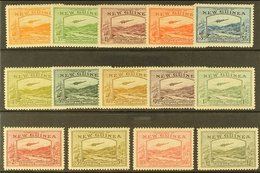 """1939  AIRMAILS Bulolo Goldfields Complete Set Inscribed """"AIRMAIL POSTAGE"""" At Foot, SG 212/25, Mint, Toned Gum, Cat. £110 - Papouasie-Nouvelle-Guinée"""