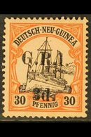 AUSTRALIAN OCCUPATION  1914-15 (German New Guinea Surcharged) 3d On 30pf Black & Orange/buff, SG 8, Fine Mint For More I - Papouasie-Nouvelle-Guinée