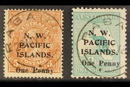 """NWPI  1918 Surcharges Complete Set, SG 100/01, Used With """"Rabaul"""" Cds Cancels, Fresh. For More Images, Please Visit Http - Papouasie-Nouvelle-Guinée"""