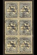 """NWPI  1918-22 2½d Indigo Roo Overprint, SG 107, Very Fine Cds Used BLOCK Of 6 Cancelled By """"Kawieng"""" Cds's, Fresh & Scar - Papouasie-Nouvelle-Guinée"""