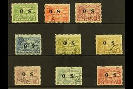 """OFFICIALS  1925-31 """"OS"""" Opt'd """"Native Village"""" Set, SG O22/30, Fine Cds Used (9 Stamps) For More Images, Please Visit Ht - Papouasie-Nouvelle-Guinée"""