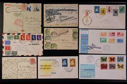 1960-75 NEVER HINGED MINT  Assembly Of Complete Sets In Glassine Packets, Lovely Fresh Condition. (guess Over 800 Stamps - Paraguay