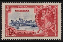 1935  1½d Deep Blue And Carmine Silver Jubilee, Diagonal Line By Turret, SG 124f, Very Fine Mint. For More Images, Pleas - Saint Helena Island