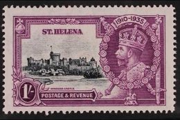 1935  1s Slate And Purple Silver Jubilee, Dot By Flagstaff, SG127h,very Fine Mint. For More Images, Please Visit Http: - Saint Helena Island