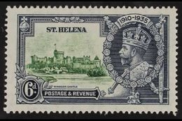 1935  6d Green And Indigo Silver Jubilee, Diagonal Line By Turret, SG126f, Very Fine Mint. For More Images, Please Visi - Saint Helena Island