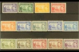 "1938-44  ""Badge"" Definitive Set, SG 131/40, Never Hinged Mint (14 Stamps) For More Images, Please Visit Http://www.sanda - Saint Helena Island"