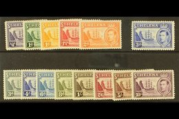 1938-44  Complete Definitive Set, SG 131/140, Very Fine Mint. (14 Stamps) For More Images, Please Visit Http://www.sanda - Saint Helena Island