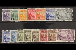 1938-44  Complete Definitive Set, SG 131/140, Plus 8d Listed Shade, Very Fine Mint. (15 Stamps) For More Images, Please  - Saint Helena Island