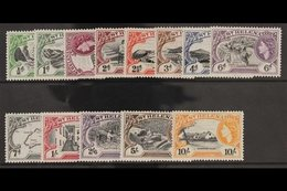 1953-59  Definitive Set, SG 153/165, Fine Never Hinged Mint. (13 Stamps) For More Images, Please Visit Http://www.sandaf - Saint Helena Island