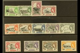 1953-59  Pictorial Definitive Complete Set, SG 153/65, Never Hinged Mint (13 Stamps) For More Images, Please Visit Http: - Saint Helena Island