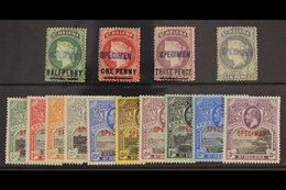 SPECIMENS  Fresh Mint Selection With Scarce 1884 Set Of 4, SG 40s/44s And 1912 Geo V Set Complete, SG 72s/81s. (14 Stamp - Saint Helena Island