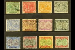 1920-22  Watermark Multi Crown CA Definitive Set Complete To 10s, SG 24/35, Fine Used, The 10s Is Very Fine. (12 Stamps) - St.Kitts And Nevis ( 1983-...)