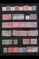 1937-80  MOSTLY MINT ACCUMULATION On Stock Pages, We See 1938-50 KGVI Defins Set With Some Additional Perfs / Papers, 19 - St.Kitts And Nevis ( 1983-...)