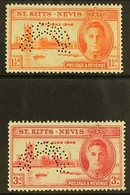 """1946  Victory Pair, Perforated """"Specimen"""", SG 78s/9s, Very Fine Mint Og. (2 Stamps) For More Images, Please Visit Http:/ - St.Kitts And Nevis ( 1983-...)"""