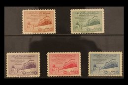 1952  Inauguration Of Dammam-Riyadh Railway Complete Set, SG 372/376, Never Hinged Mint. (5 Stamps) For More Images, Ple - Saudi Arabia