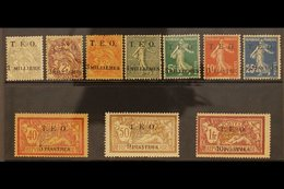 1919  T.E.O. 2 Line Surcharge Set Complete, SG 1-10, Fine To Very Fine Mint. High Values Signed Brun. Scarce Set. (10 S - Syria