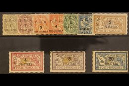 1919  T.E.O. 3 Line Surcharge Set Complete, SG 16-20, Fine To Very Fine Mint. (10 Stamps) For More Images, Please Visit  - Syria