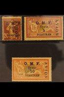 "1921  Airmail Overprint On ""OMF"" Set, SG 86/88, Lightly Toned Mint. Kessler Guarantee Handstamps. For More Images, Pleas - Syria"