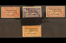 """1923  Syria- Grand Liban Airmail Set Complete, Variety """"3¾ Mm Spacing"""", SG 114/7a, Very Fine Mint. (4 Stamps) For More I - Syria"""