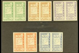 1943  Union Of Latakia & Jebel Druze With Syria - The Complete Postage Set (Maury 283/87, SG 367/71) In IMPERF PAIRS, Ne - Syria