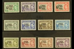 1952  KGVI Overprints Complete Set, SG 1/12, 5s Very Fine Mint, Others Never Hinged Mint (12 Stamps). For More Images, P - Tristan Da Cunha