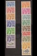 1960  Complete Definitive Set, SG 28/41, Fine Never Hinged Mint. (14stamps) For More Images, Please Visit Http://www.sa - Tristan Da Cunha